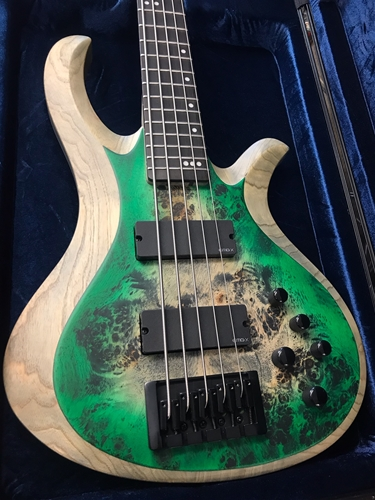 Schecter DIAMOND SERIES PROTOTYPE Riot-5 Trans Green Burst 5-String Electric Bass Guitar 2019