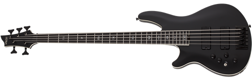 Schecter    DIAMOND SERIES SLS Evil Twin-5 Satin Black   Left Handed  5-String Electric Bass Guitar 2019