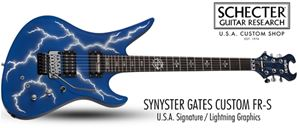 Schecter USA CUSTOM SHOP Synyster Gates FR/S   Lightning Graphic  6-String Electric Guitar
