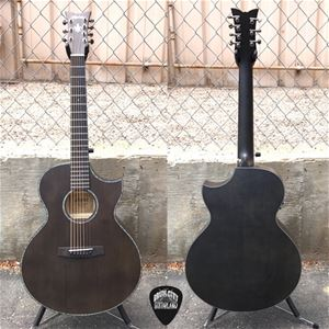 schecter diamond series orleans stage 7 satin see thru black 7 string acoustic electric guitar. Black Bedroom Furniture Sets. Home Design Ideas