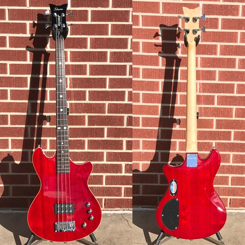 USED Schecter DIAMOND SERIES T-1  4-String Electric Bass Guitar