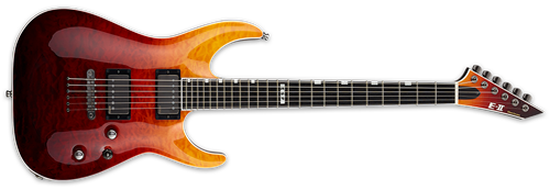 ESP E-II Horizon NT-II Tiger Eye Amber Fade 6-String Electric Guitar 2019