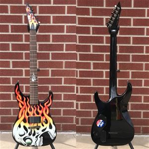 USED LTD Screaming Skull Graphic 6-String Electric Guitar