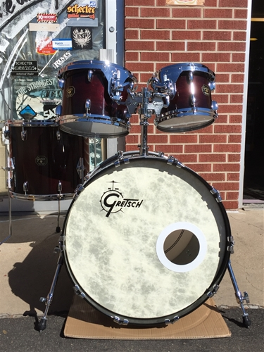 USED Gretsch USA Custom 4 pc. shell kit - Chestnut Burst Lacquer