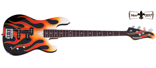 Schecter USA Custom Shop MICHAEL ANTHONY SIGNATURE Hot Rod Flames 4-String Electric Bass Guitar 2017