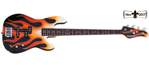 Schecter USA Custom Shop MICHAEL ANTHONY SIGNATURE Hot Rod Flames 4-String Electric Bass Guitar