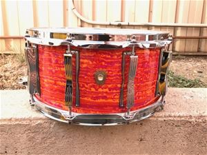 "Ludwig USA  Classic Maple LS403 Mod Orange 6 1/2x14"" Snare Drum 2018"