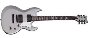 Schecter DIAMOND SERIES S-II Platinum  Satin Silver 6-String Electric Guitar