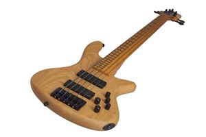 Schecter DIAMOND SERIES Stiletto Session-5 Fretless 5-String Electric Bass Guitar