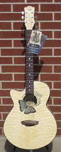 Luna Fauna Butterfly  Left Handed 6-String Acoustic Electric Guitar