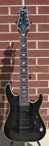 schecter diamond series omen extreme 7 see thru black 7 string electric guitar. Black Bedroom Furniture Sets. Home Design Ideas