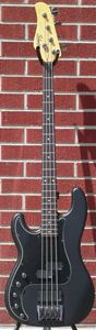 Schecter DIAMOND SERIES Diamond-P Custom Active Satin Black  2013 Left Handed 4-String Electric Bass Guitar