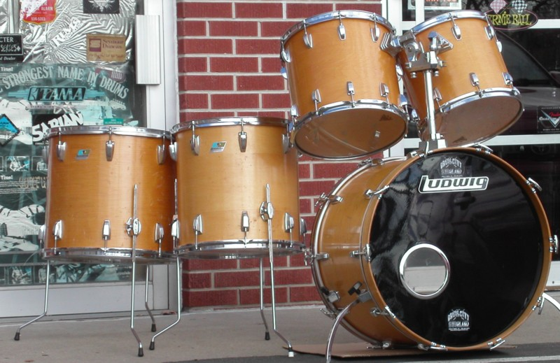 USED Ludwig USA Classic  Natural finish '80's Vintage  5-piece shell kit