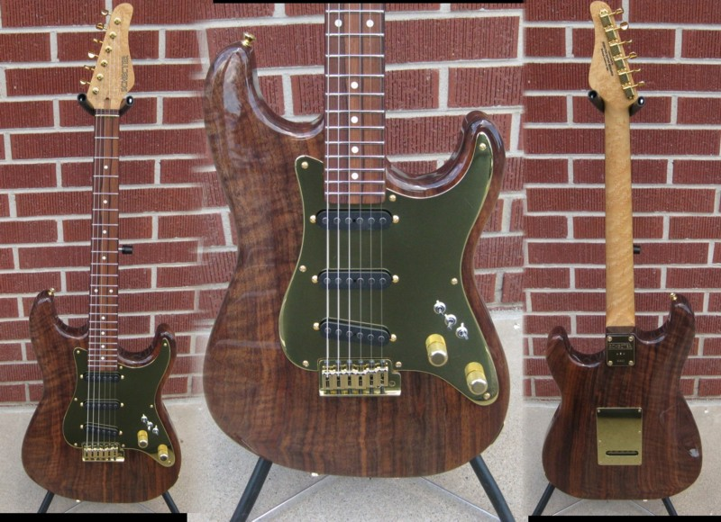 Schecter USA CUSTOM SHOP MASTERWORKS  Traditional 1 piece solid  Figured Walnut  2012 NAMM SHOW 6-String Electric Guitar