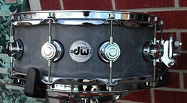 "DW Collectors 5 1/2x14""  Concrete  w/ Chrome hardware Snare Drum"