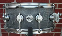 "DW Collectors 5 1/2x14""  Concrete  w/ Satin Chrome hardware Snare Drum"
