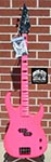 Dean Custom Zone Bass  Flouresent Pink   4-String Electric Bass Guitar