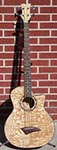 Dean EQA   Natural Quilt Ash 4-String Acoustic Electric Bass Guitar