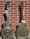 Dean Resonator Thin Body Electric CAW Brass   6-String Cutaway Electric Resonator