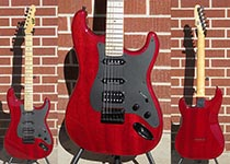 ESP Custom Shop ST  See Thru Red HSS non-trem   2011 6-String Electric Guitar