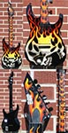 ESP  Custom Shop M-II Custom Screamin Skull Airbrush 6-String Electric Guitar