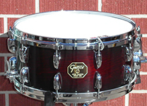 "Gretsch USA Custom 6.5"" x 14"" snare - 20-lug - Chestnut Duco lacquer Gloss- Model C65142DS"