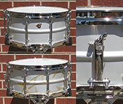 "Joyful Noise Luminary 6.5"" x 14"" aluminum snare - Serial Number 001"