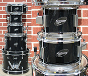 Ludwig 5 piece Junior kit - Black - Model LJR-106