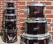 Ludwig 5 piece Junior kit - Wine Red - Model LJR-106