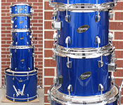 Ludwig Accent CS Combo kit - Dark Blue Metallic