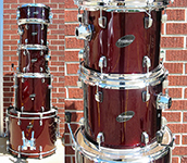 Ludwig Accent CS Combo kit - Wine Red