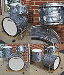 Ludwig USA Classic 3 pc. shell kit - Sky Blue Pearl