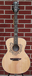 Luna  Celtic Horse  Grand Concert  Natural 6-String Acoustic Electric Guitar
