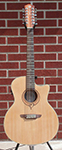 Luna Heartsong Grand Concert 12 Satin Natural  USB 12-String Acoustic Electric