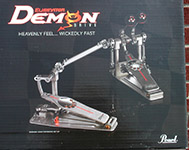 Pearl P3002D Eliminator Demon Drive Double Bass Drum Pedal with Case