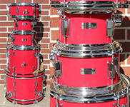 Percussion Plus 5 piece SD5 Red Junior Kit