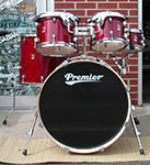 Premier XPK Modern Rock Birch  Trans Ruby Lacquer 5-Piece  Drum Set