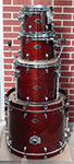 Tama Starclassic Performer Bubinga/Birch 4 pc. shell kit - Red Mahogany Lacquer