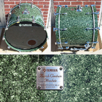 "Yamaha Birch Custom Absolute 18"" x 24"" kick - Green Marble lacquer - Model BBD-1124T"