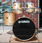 Yamaha SCA Stage Custom Advantage Natural Lacquer Birch 5-Piece set w/hardware