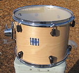"Yamaha Stage Custom Nouveau 10"" x 13"" tom - Natural lacquer - Model STT-613UN"